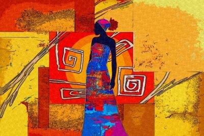 Картина Африканский мотив этнической ретро старинные