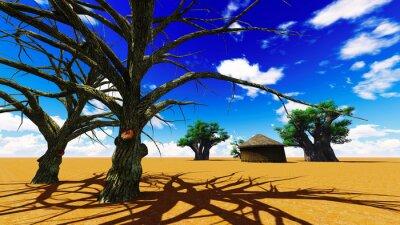 Картина Африканская деревня