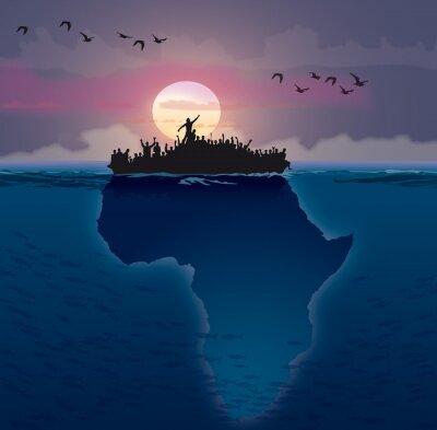 Картина Африк - Эмиграция