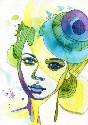 Картина Akwarelowy Portret Kobiety
