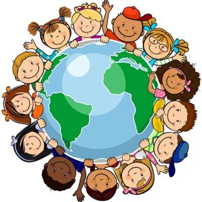 Картина Все объединены в мире