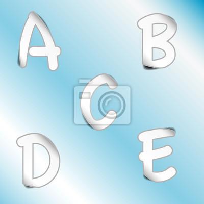 Картина Алфавит _A, B, C, D, E