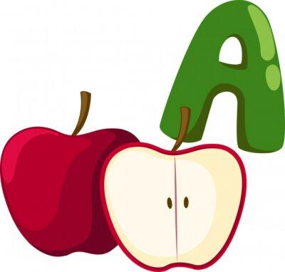 Картина алфавит для яблока