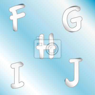 Картина алфавит _F, G, H, I, J