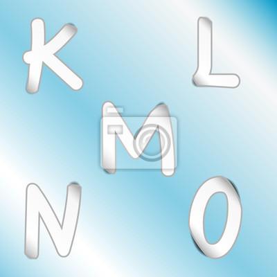 Картина алфавит _K, L, M, N, O