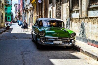 Картина Американские и советские автомобили 1950 - 1960 из Гаваны.