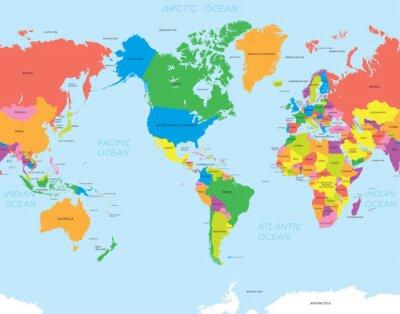 Картина Американский карта мира