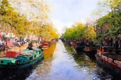 Картина Amsterdam Canal