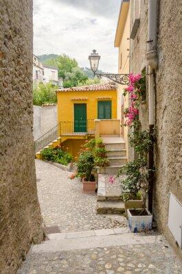 Картина Древняя улица в старом городе южной деревни Италии