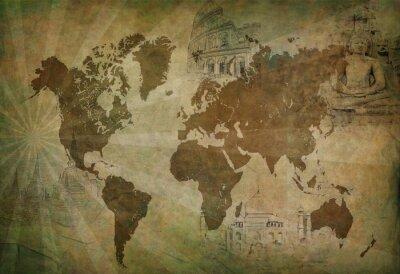 Картина Древний мир карта путешествий