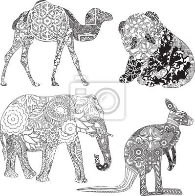животные в орнаментом
