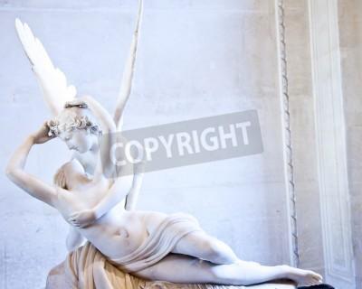 Картина Статуя Психея Антонио Кановы возрождена поцелуй Амура, впервые введенного в эксплуатацию в 1787 году, является примером неоклассической преданность любви и эмоций
