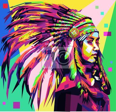 Apache Girl в стиле поп-арт