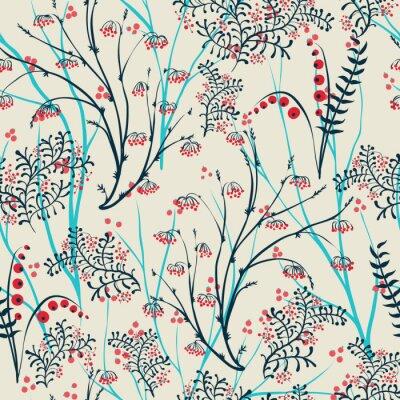 Картина яблоки ягоды филиал бесшовные орнамент.