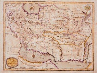 Картина Арабский старая карта