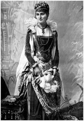 Картина Аристократическая леди (19 век) с 16-го века носит