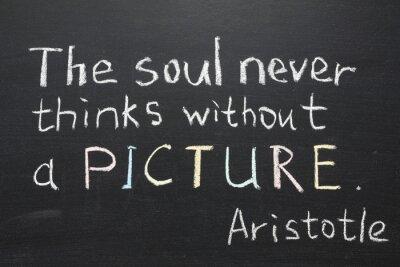 Картина Аристотель цитатой