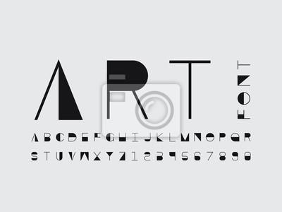 Art font. Vector alphabet