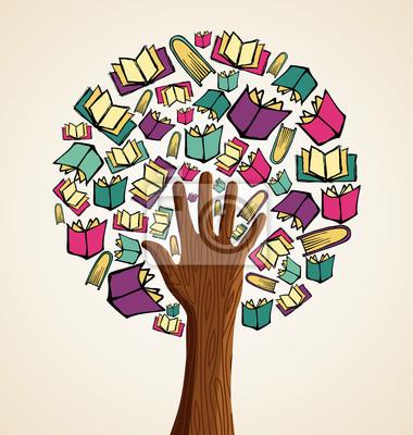 Искусство книги рука дерево