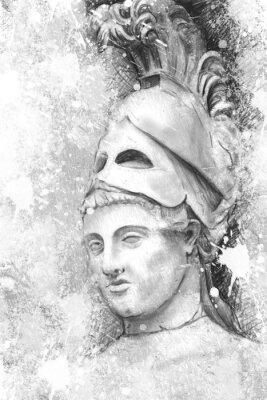 Картина Художественный портрет Перикла с текстурированный фон, Classica
