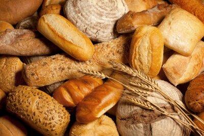 Картина Ассортимент хлеба с пшеницей