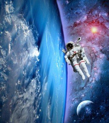 Картина Астронавт Космонавт Земля Луна