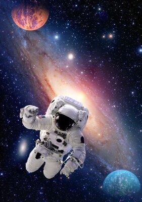 Картина Космонавт Spaceman космические галактики люди планеты Солнечной системы Вселенной. Элементы этого изображения, предоставленную NASA.