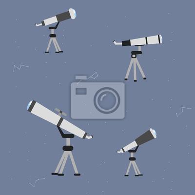 Астрономия векторный набор иконок. Коллекция космических тематических символов, включая планеты, космонавтом, астроном, телескоп, ракеты и Солнечной системы. Векторные иллюстрации eps10.