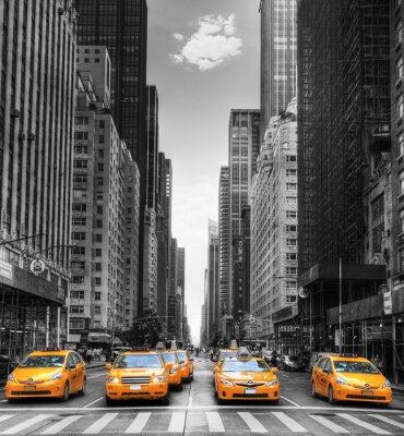 Картина Avenue АВЭК де такси из Нью-Йорка.