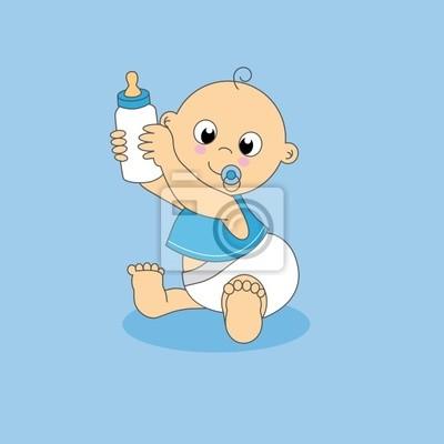 Tarjeta Bebe кон Biberon