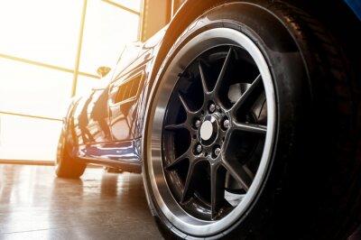 Картина Назад родового голубой спортивный автомобиль