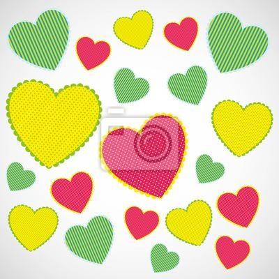 фон сердец