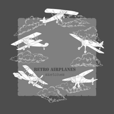 Картина Фон с самолетами