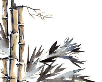 Картина Фон с бамбуком