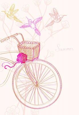 Фон с велосипеда и птиц