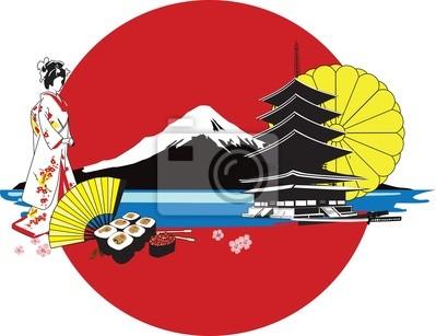 фон с японскими иероглифами