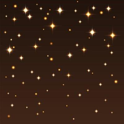 Картина Фон с блестящими звездами в темном небе