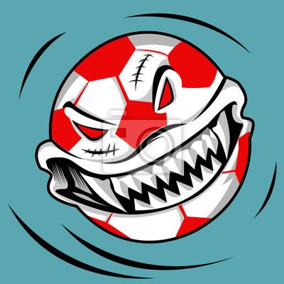 Бал монстр для вечеринки Хэллоуина в футбольном клубе любителей