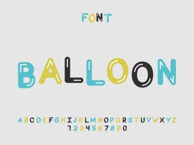 Balloon font. Vector alphabet