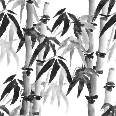 Картина бамбук узор
