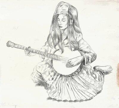 Картина Банджо - векторные иллюстрации (в пересчете)