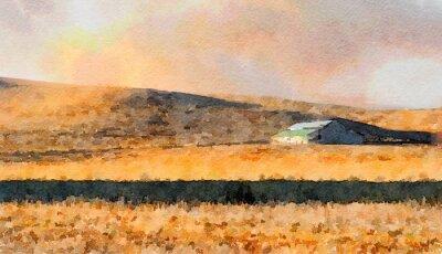 Картина Barn В стране