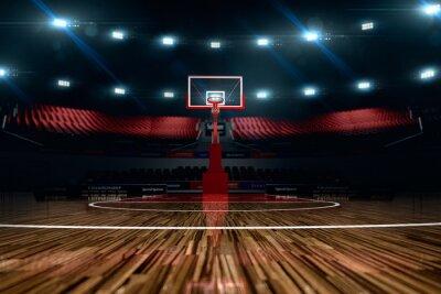 Картина Баскетбольная площадка. Спорт Арена.