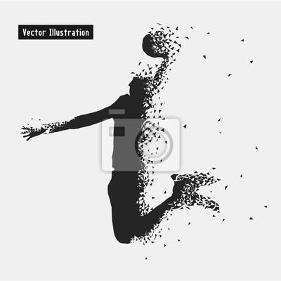 Баскетбол. Вектор eps10 illusration. Частица расходящимся композиция