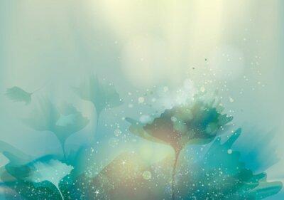 Картина Красивые абстрактные пейзаж / Магия цветочный фон