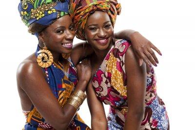 Картина Красивые африканская мода modesl в традиционной одежде.
