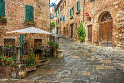 Картина Красивая аллея в Монтепульчано, Тоскана, Италия