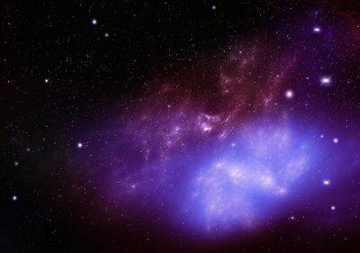 Картина красивый фон ночного неба глубокого космоса