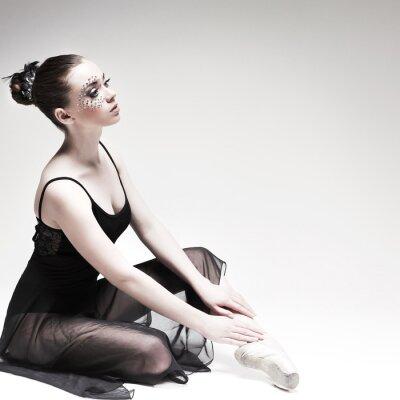 Картина Красивая балерина, Современный стиль танцор, создавая на студии