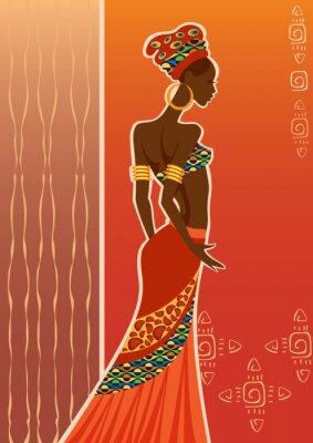 Картина Красивая черная женщина woman.African.